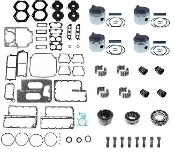Powerhead Rebuild Kit Johnson & Evinrude 85hp Crossflow 4 Cylinder Engines 1974-1977 PHK-110-40 Professional Series