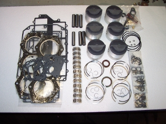 Powerhead Rebuild Kit Johnson & Evinrude Crossflow V6 Engines 175 & 235hp 1980-1990 ADK-140-STD Advanced Series