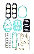 New Complete Overhaul Gasket Kit Mercury V6 135-225hp Carbureted Models with Horizontal Reeds and Gasket Type Cylinder Heads 1992-1999 500-228 Replaces; 27-815791A92