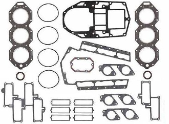 Complete Overhaul Gasket Kit for Johnson & Evinrude 200-225hp Small bore Loop Charged V6 1986-1987 Replaces; 0398172, 398172