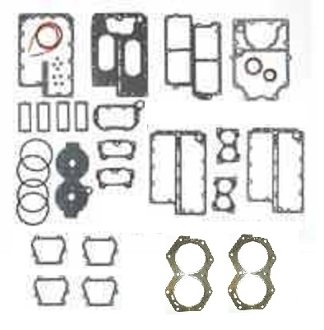 "New TSM Performance Complete Overhaul Gasket Kit for Johnson & Evinrude 115-140hp Crossflow Models 3.500"" Bore 18-4301-2 Replaces; 388603, 318358"