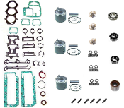 Powerhead Rebuild Kit Chrysler & Force 3 Cylinder 70-90hp 1970-1990 Models with 3 Carburetors PHK-2900-10 Professional Series