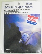 Service Manual Johnson & Evinrude 5-70hp Four-Stroke 1995-2001 By Clymer TS B753