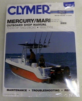 Mariner 75-250 HP Outboards Clymer B727 Service /& Repair Manual for Mercury