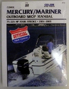 Service Manual Mercury & Mariner 75-225hp Four-Stroke 2001-2003 By Clymer TS B712