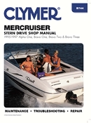 Service Manual Mercruiser Alpha One, Bravo One, Bravo Two, and Bravo Three Sterndrives 1995-1997 By Clymer TS B744