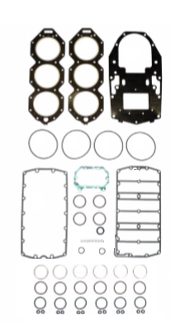 Complete Overhaul Gasket Kit for Evinrude E-Tec 250-300hp H.O. 3.4 Liter 2005 & Up 500-146-04 Replaces; 5007698